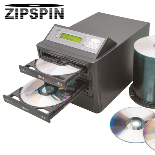 'ZipSpin Duplicator with 100 CDs'