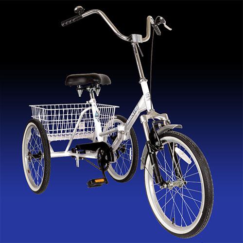 'Silver Folding Adult 3 Wheel Trike'