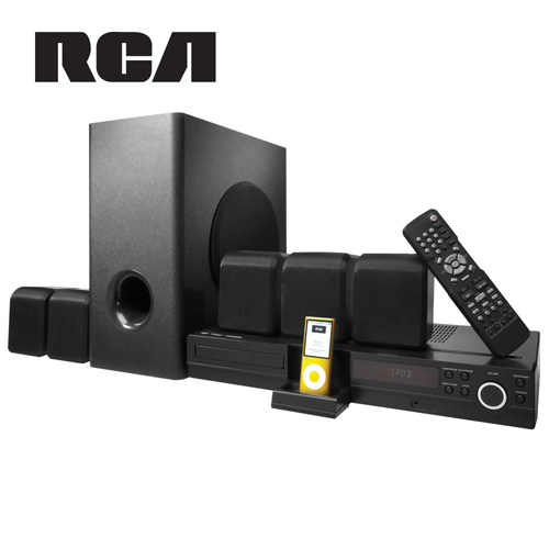 'RCA DVD Home Theater System with iPod Dock'