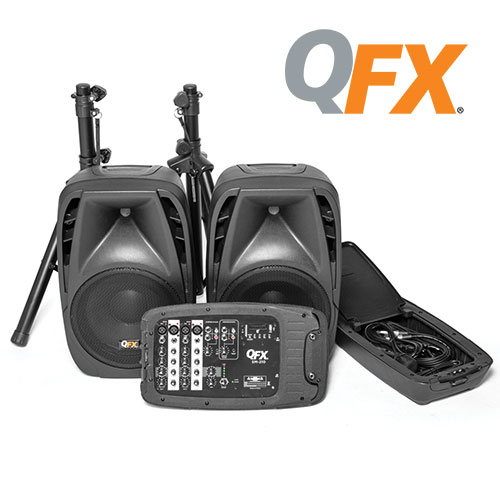 QFX 8-Channel All-in-One DJ/PA System