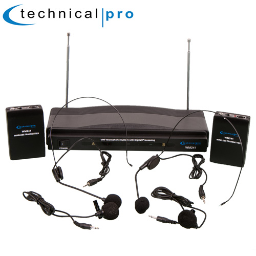 'Dual Headset/Lapel Mic System'