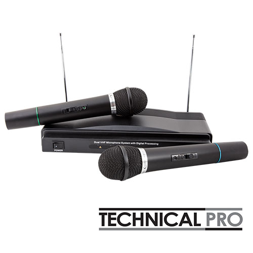 'Technical Pro Dual Wireless VHF Mic System'