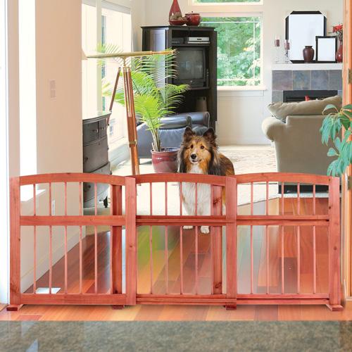 'Sliding Wood Pet Gate'