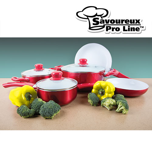 '12 Piece Ceramic Aluminum Cookware Set'