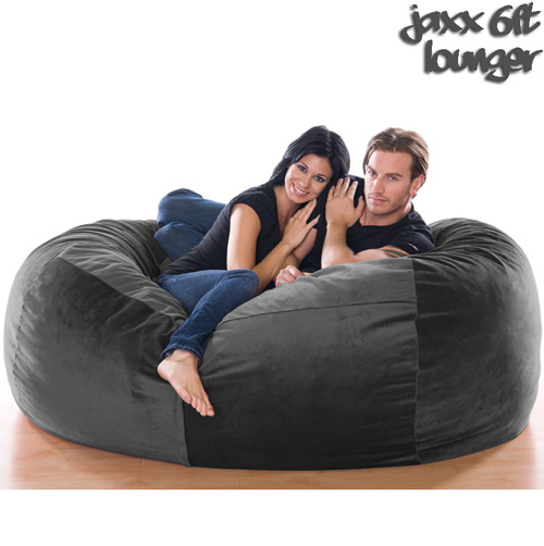 6FT VELVISH BEANBAG-Black
