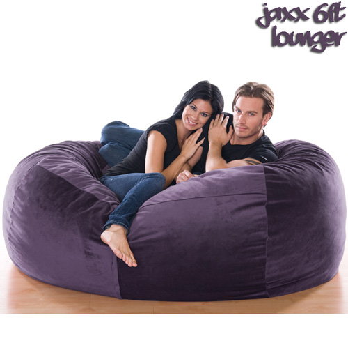 6FT VELVISH BEANBAG-AUBERN