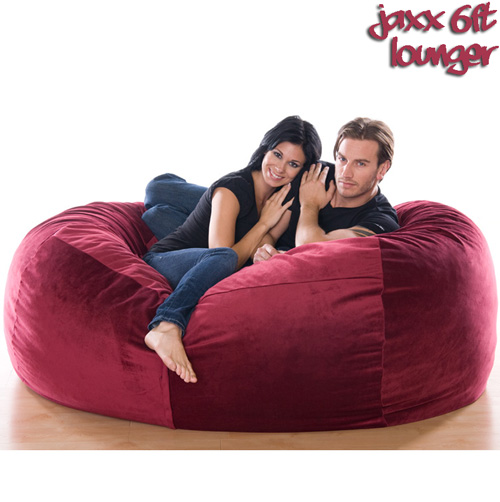 '6FT VELVISH BEANBAG-Merlot'