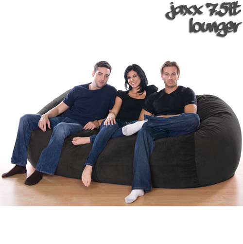 '7.5FT VELISH BEANBAG-Black'