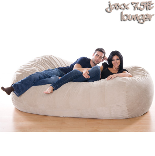 7.5FT VELISH BEANBAG-WHEAT