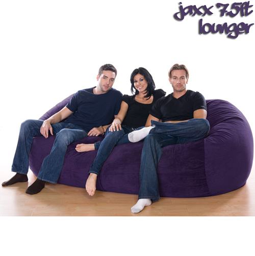 '7.5FT VELISH BEANBAG-AUBRN'