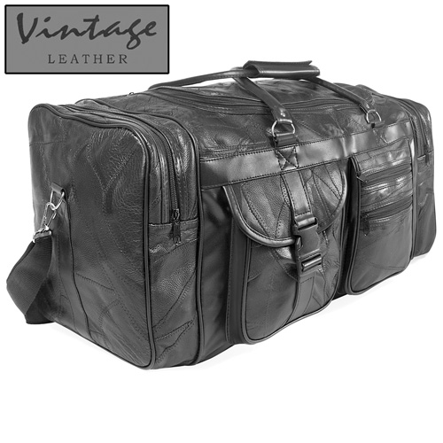 'Vintage Leather Duffle Bag'