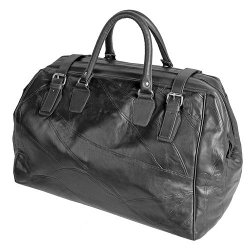 'Lambskin Weekend Bag - Black'