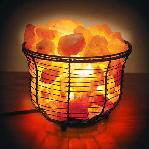 Salt Crystal Lamps Uses : Himalayan Salt Crystal Lamp Basket eBay