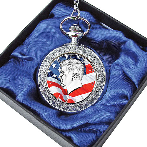 JFK 1/2 Dollar Pocket Watch