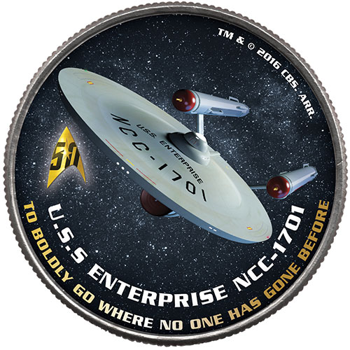 Star Trek 1/2 Dollar