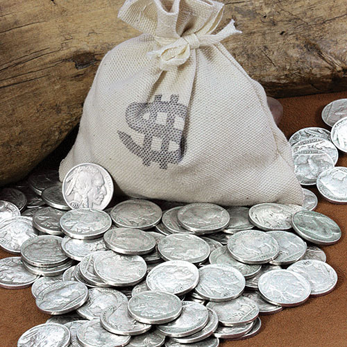 'Bankers Bag of 20 Buffalo Nickels'
