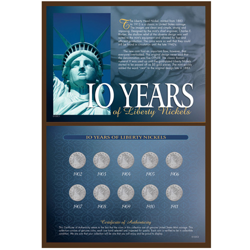 '10 Years of Liberty Nickels'