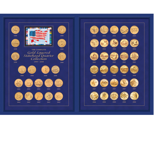 'The Complete Gold-Layered Statehood Quarter Collection 1999-2008'