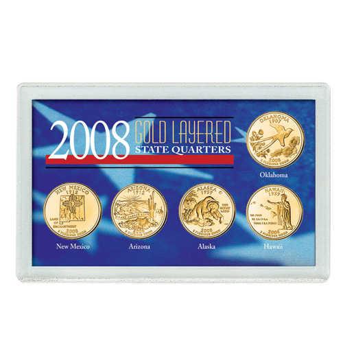 '2008 Gold-Layered State Quarters'