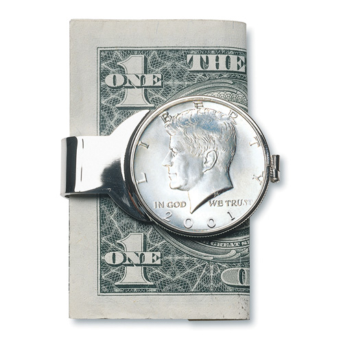 'JFK Half Dollar Money Clip'