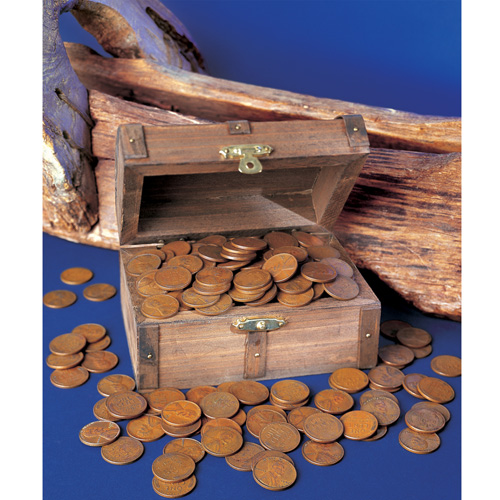 'Treasure Chest of 51 Historic Coins'