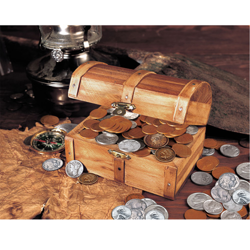 'Historic Wooden Chest With At Least 50 Old U.S. Mint Coins'