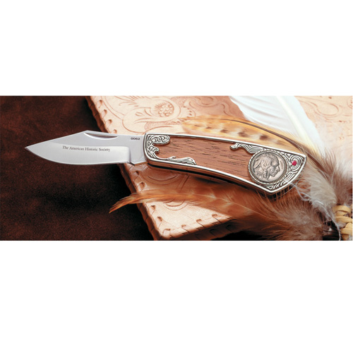 'Buffalo Nickle Pocket Knife with Genuine Ruby'