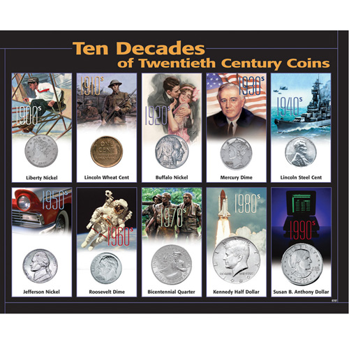 '10 Decades 20th Century Coins'