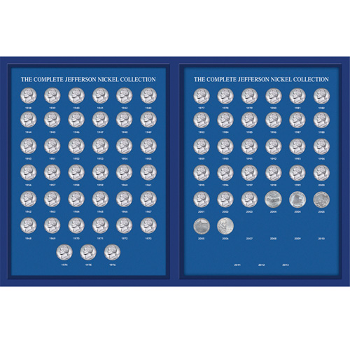 'Complete Jefferson Nickel Year Collection 1938-2011'
