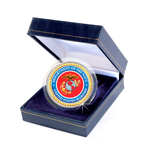'Armed Forces Commemorative Colorized JFK Half Dollar - Marines'