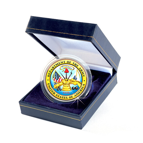 'Armed Forces Commemorative Colorized JFK Half Dollar - Army'