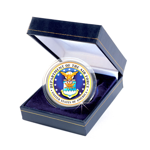 'Armed Forces Commemorative Colorized JFK Half Dollar - Air Force'