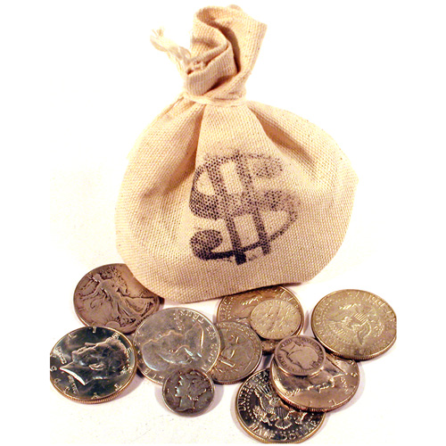 '1/4LB Bag of US Mint Silver Coins'