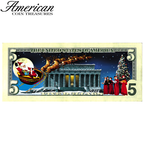 'Jingle Bucks Color 5 Dollar Bill'
