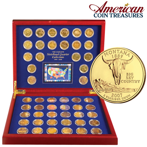 'Complete Gold State Quarters'