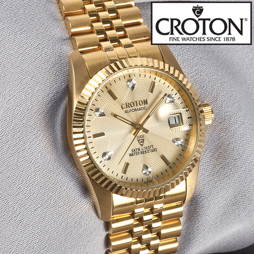 'Croton Mens 6 Diamond Automatic Watch'