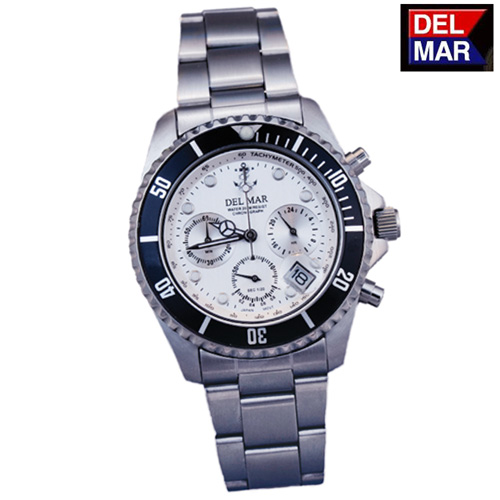 'Del-Mar White Chronograph Watch'