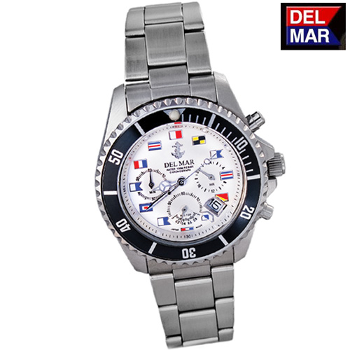 'Del-Mar White Nautical Watch'