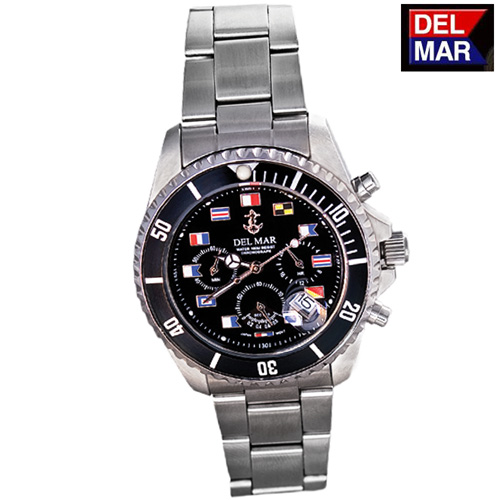 'Del-Mar Black Nautical Watch'