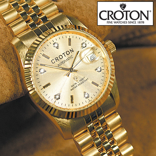 'Croton 6 Diamond Gold Watch'