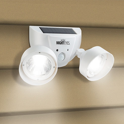 Ideaworks Solar Nighteyes Dual Use Outdoor Safety Alarm