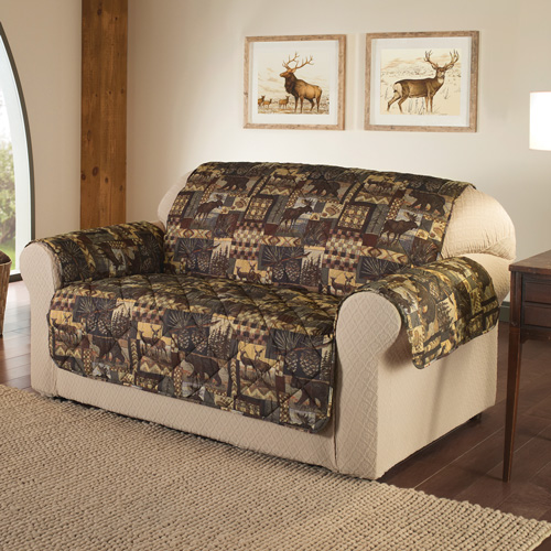 'Lodge Print Furniture Protector - Loveseat'