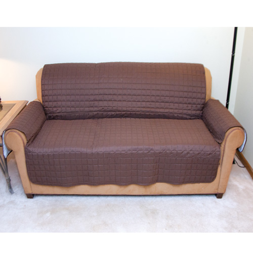 'Love Seat Protector - Brown'