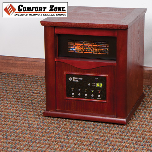 Comfort Zone Wood Cabinet Infrared Heater Bf Deals