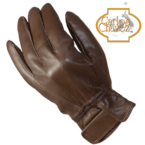 'Womens Lambskin Gloves - Brown'