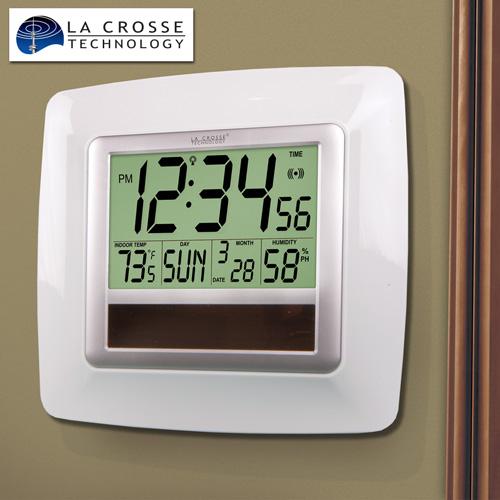 'LaCrosse Solar Atomic Clock - White'