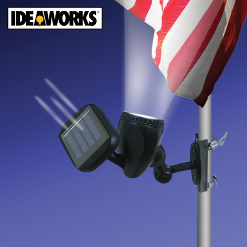 ideaworks solar powered flag pole light jb6200 ebay. Black Bedroom Furniture Sets. Home Design Ideas
