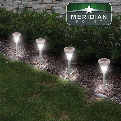 'Stainless Steel Solar Lights - 4 Pack'