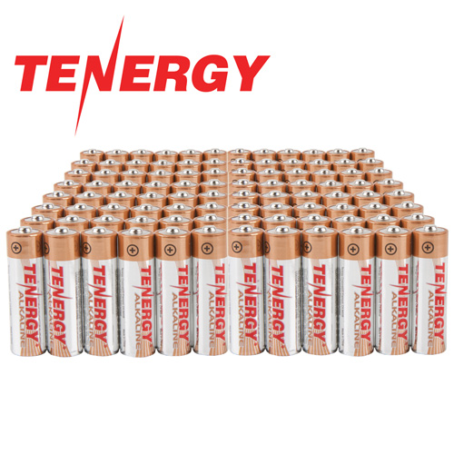 AA Tenergy Alkaline Batteries - 96 Pack