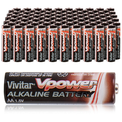 'Vivitar AA Alkaline Batteries - 100 Pack'